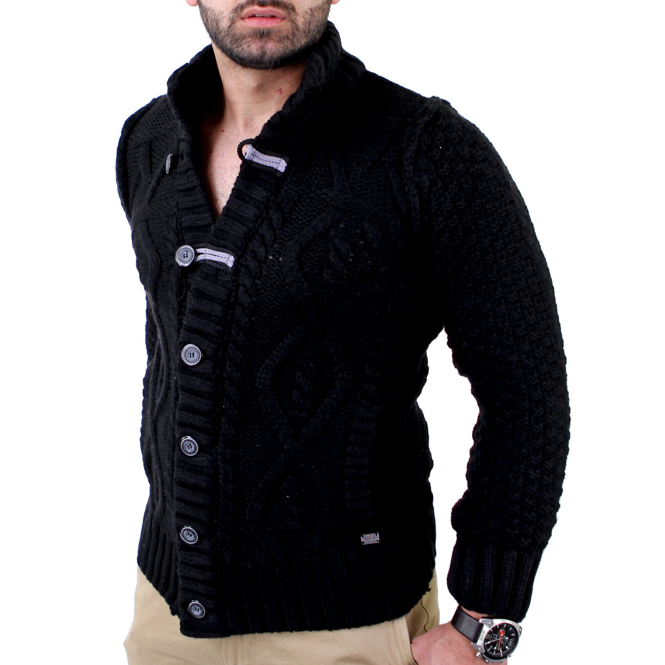 strickjacke herren reslad winter jacke 3208 g nstig kaufen. Black Bedroom Furniture Sets. Home Design Ideas