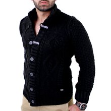 Reslad Herren Grobstrick Jacke Winter Strickjacke RS-3208