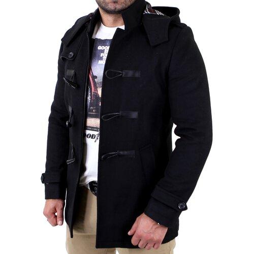 Wählen Sie für späteste Preis bleibt stabil Rabatt-Sammlung Reslad Herren Vintage Style Parker Mantel RS-443 Schwarz