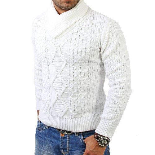 Tazzio Herren Schalkragen Strickpullover Winter Pullover TZ 3500