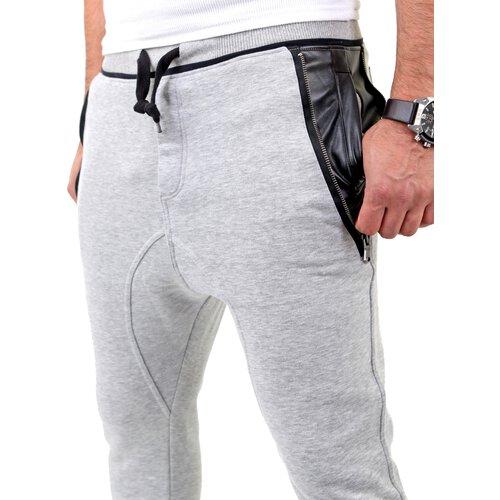 vsct herren new age sweatpants leder pocket jogginghose v 5641148 gra. Black Bedroom Furniture Sets. Home Design Ideas