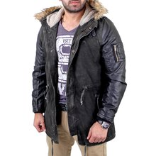 Redbridge Mantel Herren Material-Mix Biker Jacke RB-41461...