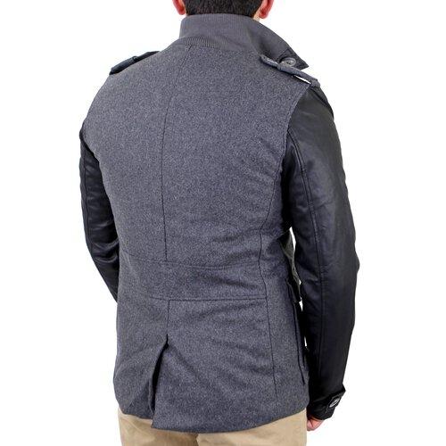redbridge mantel herren material mix jacke kurz mantel rb 41485 anth. Black Bedroom Furniture Sets. Home Design Ideas