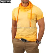 Kickdown K-2460 Huge Collar sprayed T-shirt orange