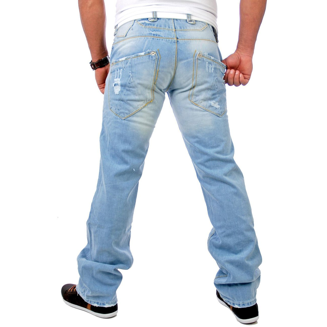 destroyed jeans hose tazzio herren 1095 jeanshosen. Black Bedroom Furniture Sets. Home Design Ideas