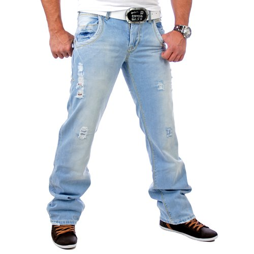 Tazzio Herren Jeans Destroyed Look TZ-1095 Hellblau 7a97f8a0d0