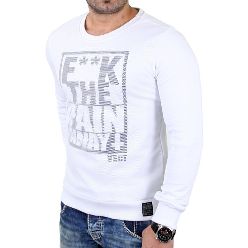 VSCT Sweatshirt Herren F**K the Pain Away Mesh Sweater V-5641174