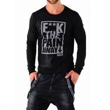 VSCT Sweatshirt Herren F**K the Pain Away Mesh Sweater...