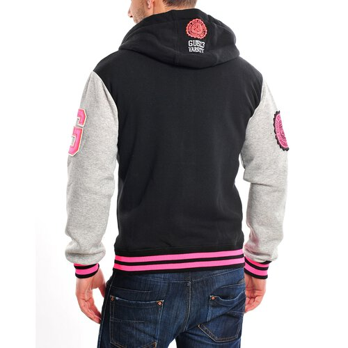 Gangster Unit College Jacke Herren All Fluo Oldschool Baseball Jacke GU-613