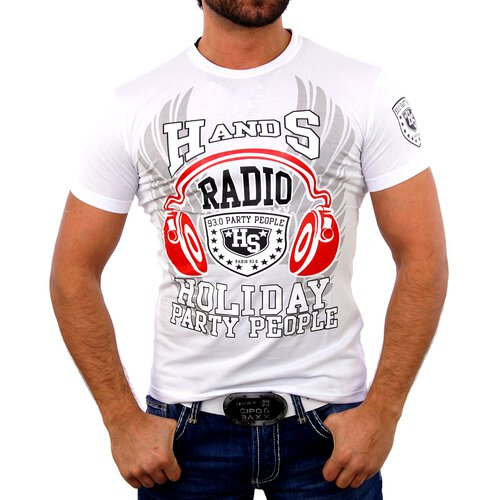 Belman T-Shirt Herren Party Club -HEADPHONE- Print B-1229