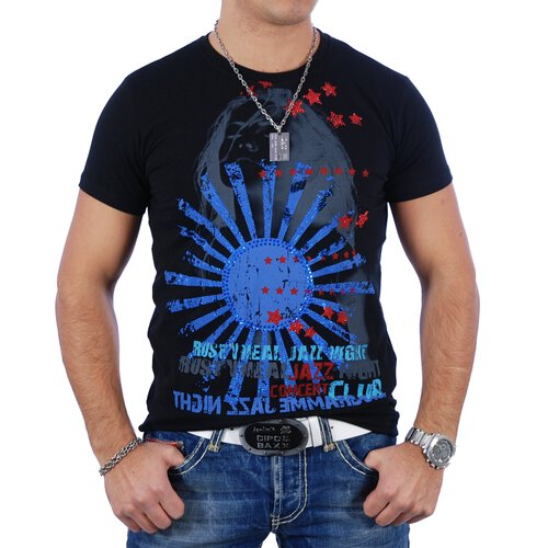 Rusty Neal T-Shirt Herren JAZZ NIGHT Print RN-3386