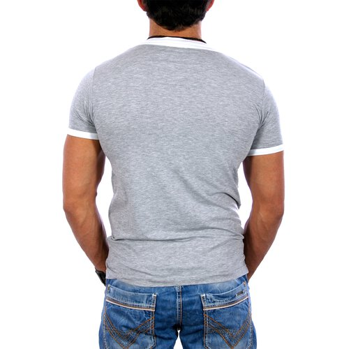 ReRock T-Shirt Herren Wide Neck 2in1 Style RR-1325