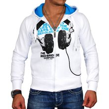 Redbridge Sweatjacke Herren HEADPHONE Print Kapuzen...