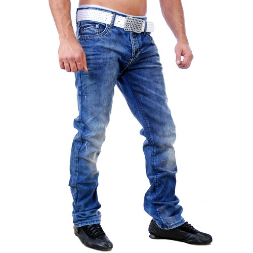 Redbridge Herren Jeans Dirty Blue Denim Hose RB-170 Blau