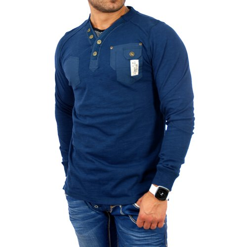 on sale c0f2c 9a534 VSCT Sweatshirt Herren Y-Neck Patched Langarm Pullover V-5400316