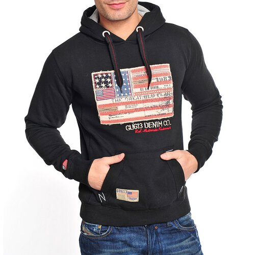 Gangster Unit Sweatshirt Herren Flag America Hoodie GU-618 Schwarz S GU-618-0006
