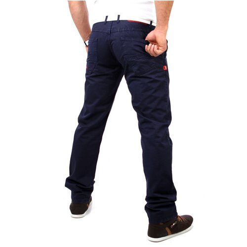 R-Neal RN-7551 Chino Stoff Sommer Hose Navy