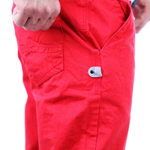 R-Neal RN-7551 Chino Stoff Sommer Hose Rot