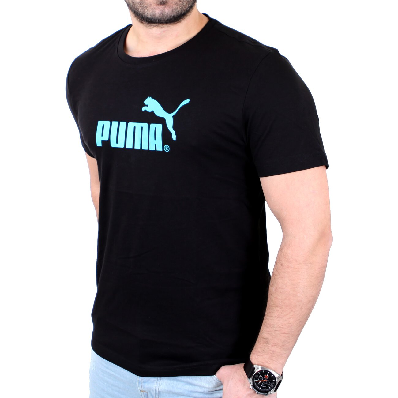 puma t shirt herren large no 1 logo tee g nstig kaufen. Black Bedroom Furniture Sets. Home Design Ideas