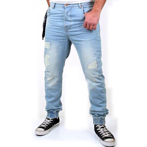 57353012474e2 VSCT Herren Jeans Noah Cuffed Vintage Bleached Used Look V-5641223 Blau