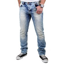 VSCT Herren Jeans Anthony Slim 5-Pocket V-5641229 Hellblau