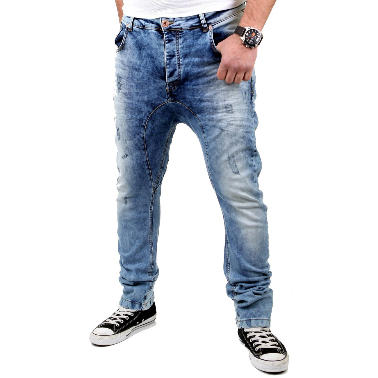 jeans spencer hellblau vsct low crotch jeans hose g nstig. Black Bedroom Furniture Sets. Home Design Ideas