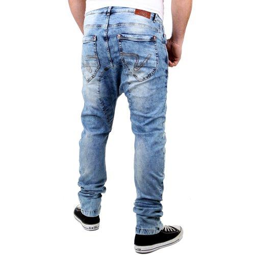 heiß-verkaufendes spätestes Mode schön und charmant VSCT Herren Jeans Spencer Low Crotch Bleached Style V-5641354 Hellblau