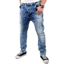 VSCT Herren Jeans Spencer Low Crotch Bleached Style...