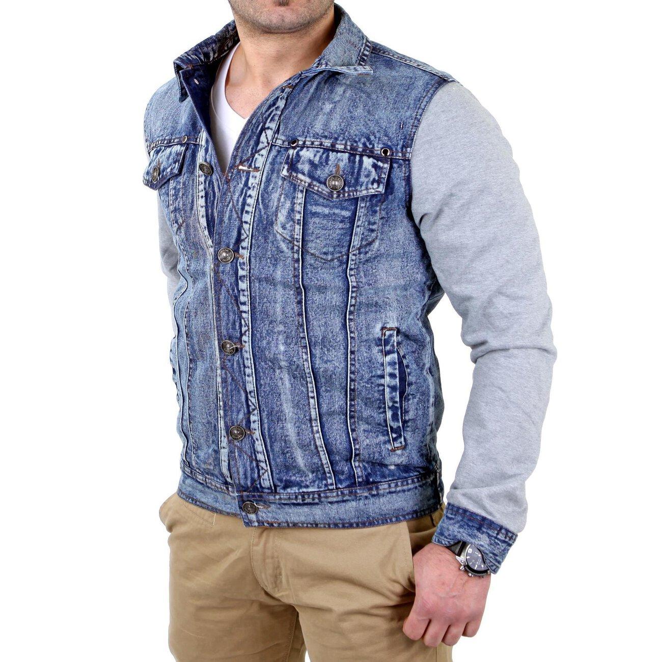 jeansjacke herren material mix reslad rs 17 g nstig kaufen. Black Bedroom Furniture Sets. Home Design Ideas