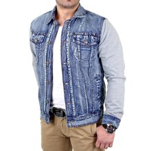 Reslad Jeansjacke Herren 2in1 Denim-Jersey-Mix RS-17...