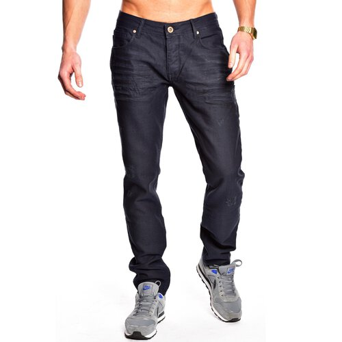 Tazzio Herren Jeans Authentic Dark Denim Hose TZ-505 Dunkelblau