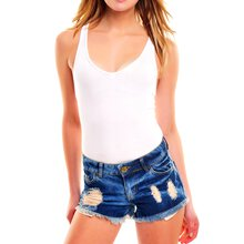 Tazzio Shorts Damen High Waist Destroyed Look Jeans...