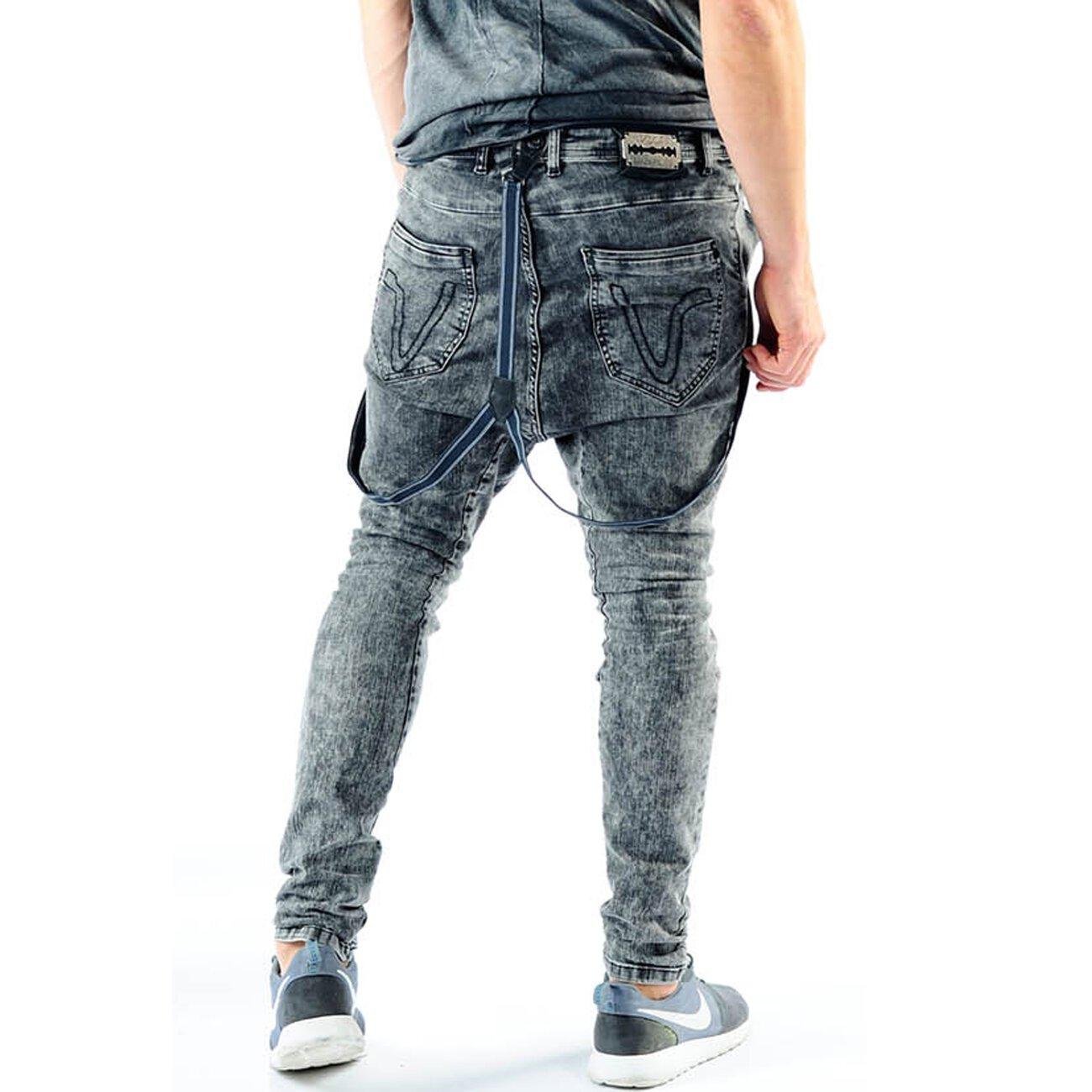 jeans mit hosentr ger vsct moonwash antifit schwarz. Black Bedroom Furniture Sets. Home Design Ideas