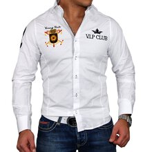 Young & Rich Herren Hemd Authentic Club Design...