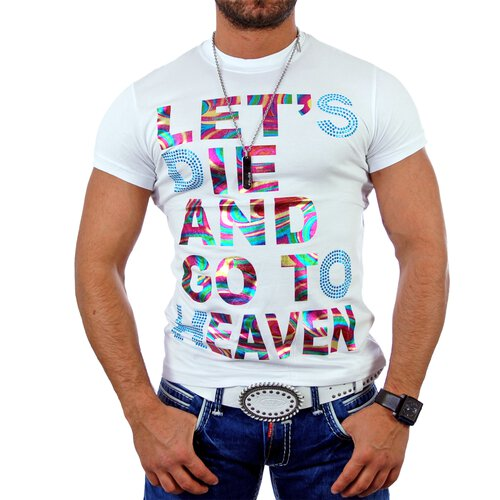 Golden Horn T-Shirt Herren Artwork Lets Die Or Go To Heaven Print Shirt GH-8651