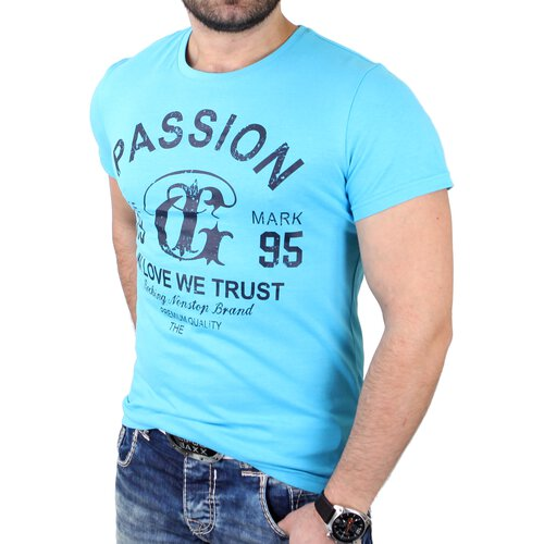T shirt herren basic passion print reslad herrenshirts for T shirt printing local area