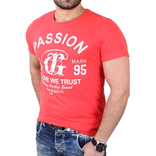 Reslad T-Shirt Herren Basic Passion Print Shirt RS-7373