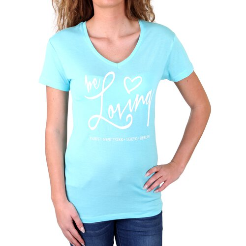 Madonna T-Shirt Damen KRYSTEL Be Loving Front Print Shirt MF-406915