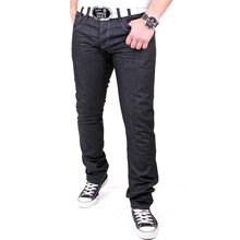 Reslad Herren Jeans Dark Washed Denim Authentic Look...