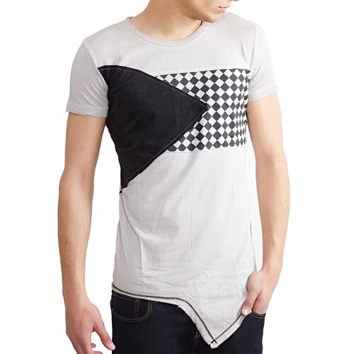 Tazzio T-Shirt Herren Club Design Asymmetric Faded Shirt TZ-15129