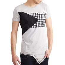 Tazzio T-Shirt Herren Club Design Asymmetric Faded Shirt...