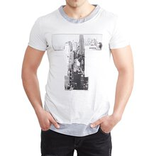 Tazzio T-Shirt Herren Two Color Style Printed Rundhals...