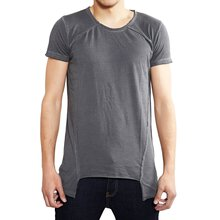 Tazzio T-Shirt Herren Asymmetrisch Faded Vintage Washed...