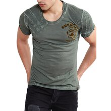 Tazzio T-Shirt Herren Snow Cat Vintage Look Print Shirt...