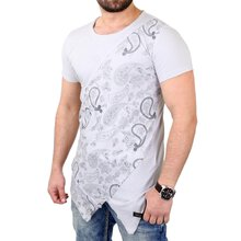 Tazzio T-Shirt Herren Cross-Cut Oversized Bandana Pattern...