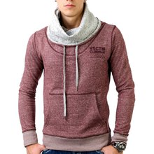 Vsct V-5400328 Huge Collar Sweatshirt Hoody Pullover Oxblood