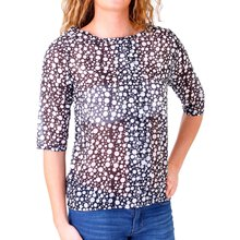 Madonna Bluse Damen COURTNEY Allover Print Gepunktet...