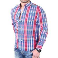 98f424ab2e69 Reslad Herren Hemd Casual Wear Fein Karo Langarmhemd RS-7691