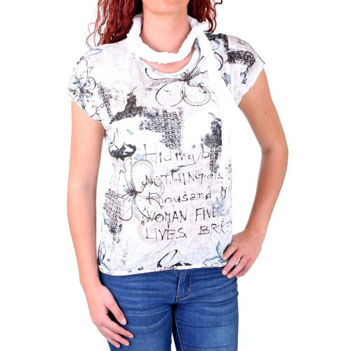 Madonna T-Shirt Damen JOSEPHINE Allover Flower Print Shirt MF-741543