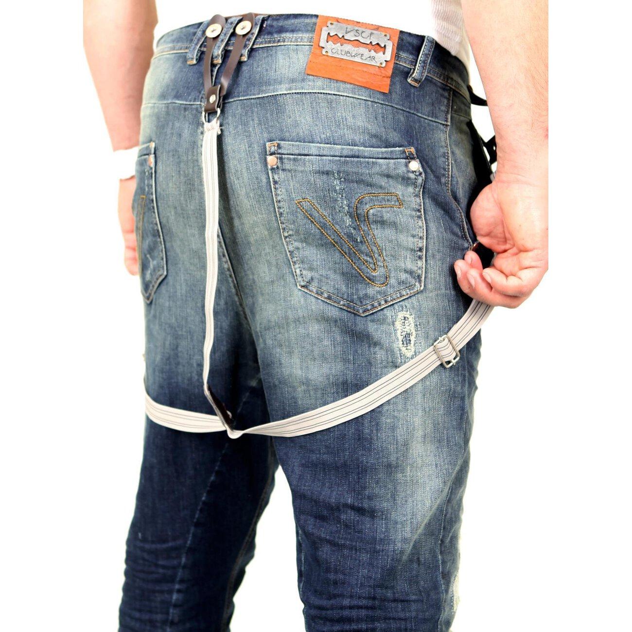 vsct jeans herren brad slim fit tinted mit hosentr ger blau. Black Bedroom Furniture Sets. Home Design Ideas